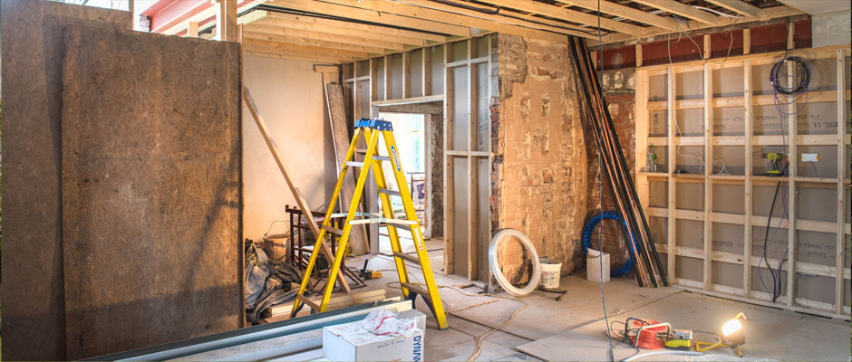 Photo: Interior of current project in Hale